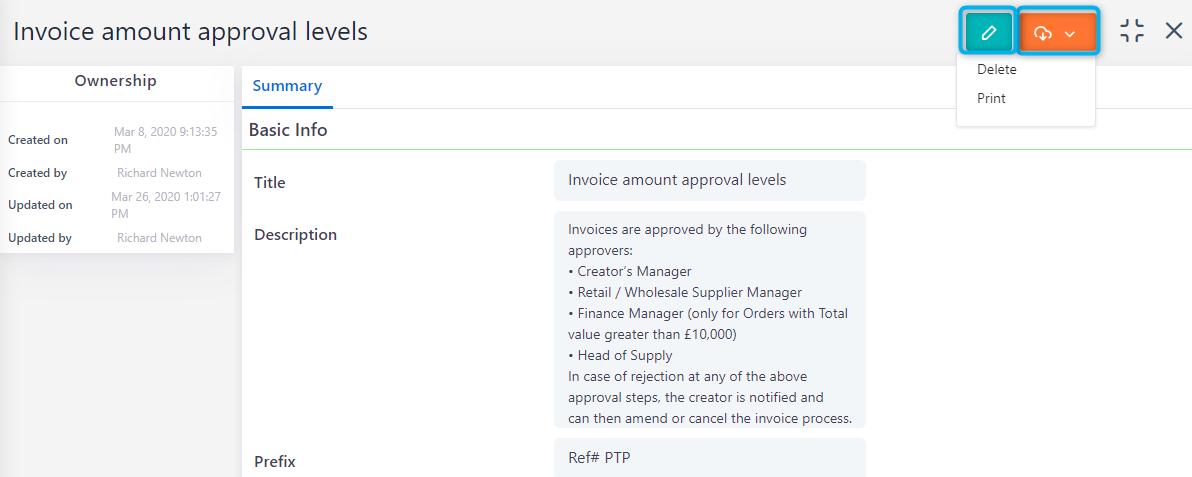 manage workflow controls | Comidor Platform