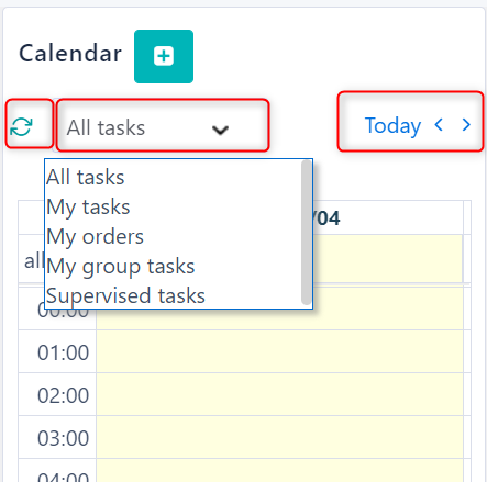 Calendar Workbench v.6| Comidor Platform