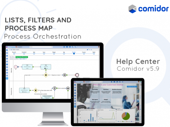 lists, filters and process map | products and services | Digital Transformation and Automation