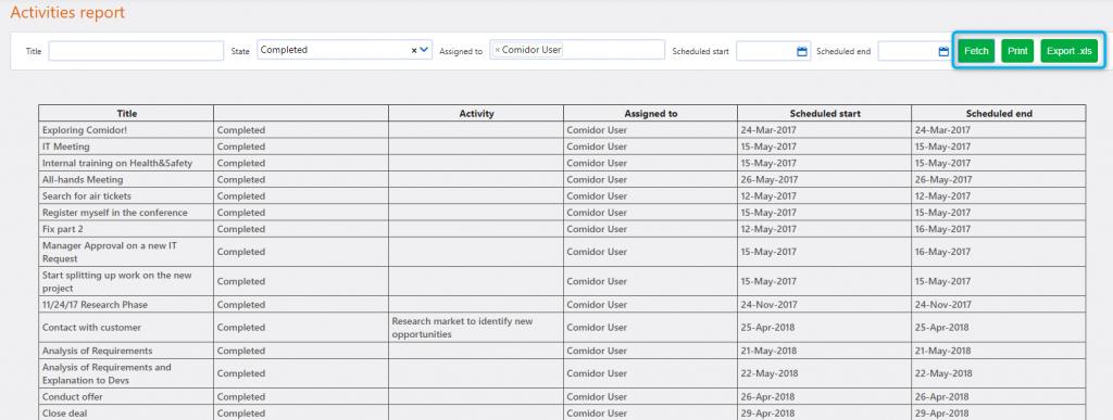 Report App builder | Comidor Platform