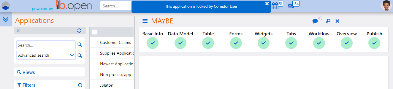 App Builder lock | Comidor Platform