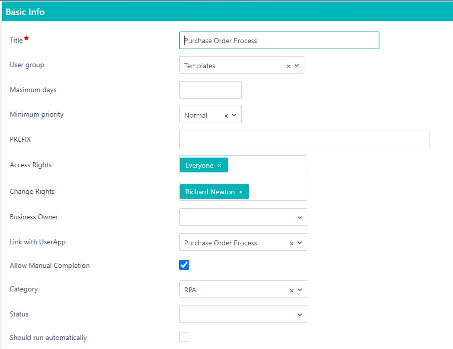 Workflow creation | Comidor Platform