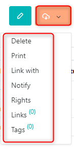 Actions icon - Job tiltesv.6  Comidor Platform