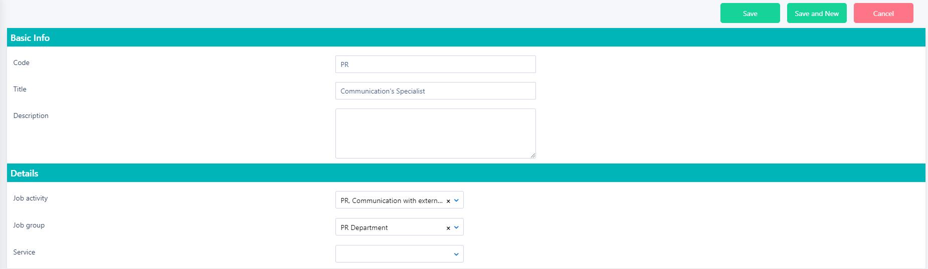 Add job title v.6  Comidor Platform