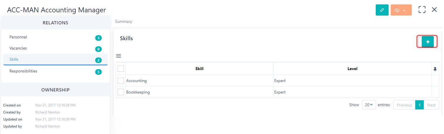 add skills v.6  Comidor Platform