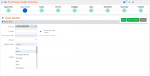 data model | Comidor Platform