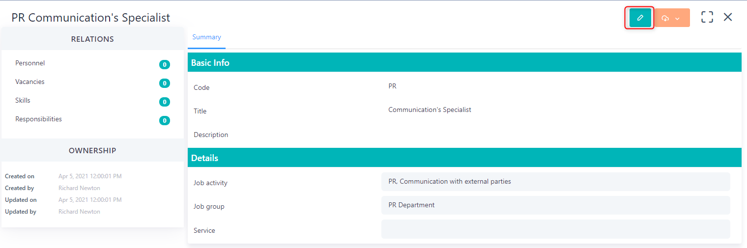edit job title v.6  Comidor Platform