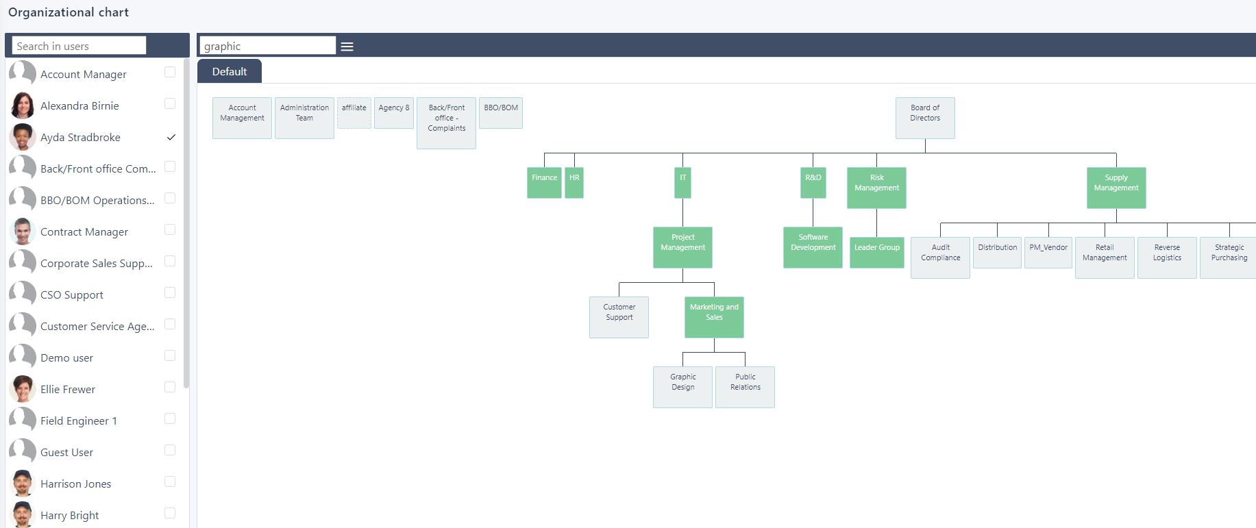 View Search a User v.6| Comidor Platform