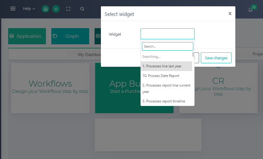 Edit Home Dashboard | Comidor Platform