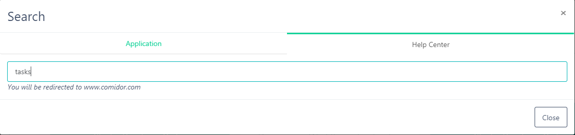 Search Home Dashboard | Comidor Platform
