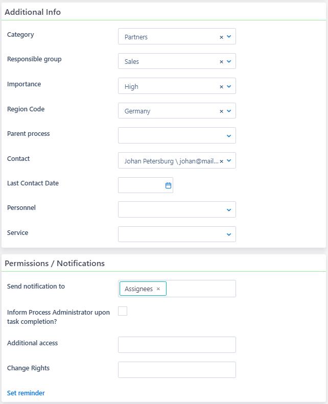 Opportunities creation | Comidor Platform