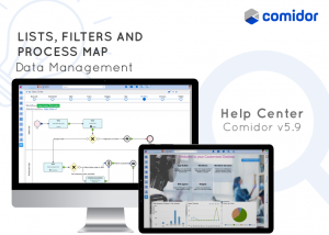 lists, filters and process map | products and services | Comidor platform