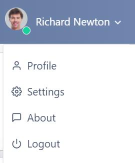 user settings v.6  Comidor Platform