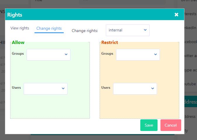 Rights | Comidor Platform