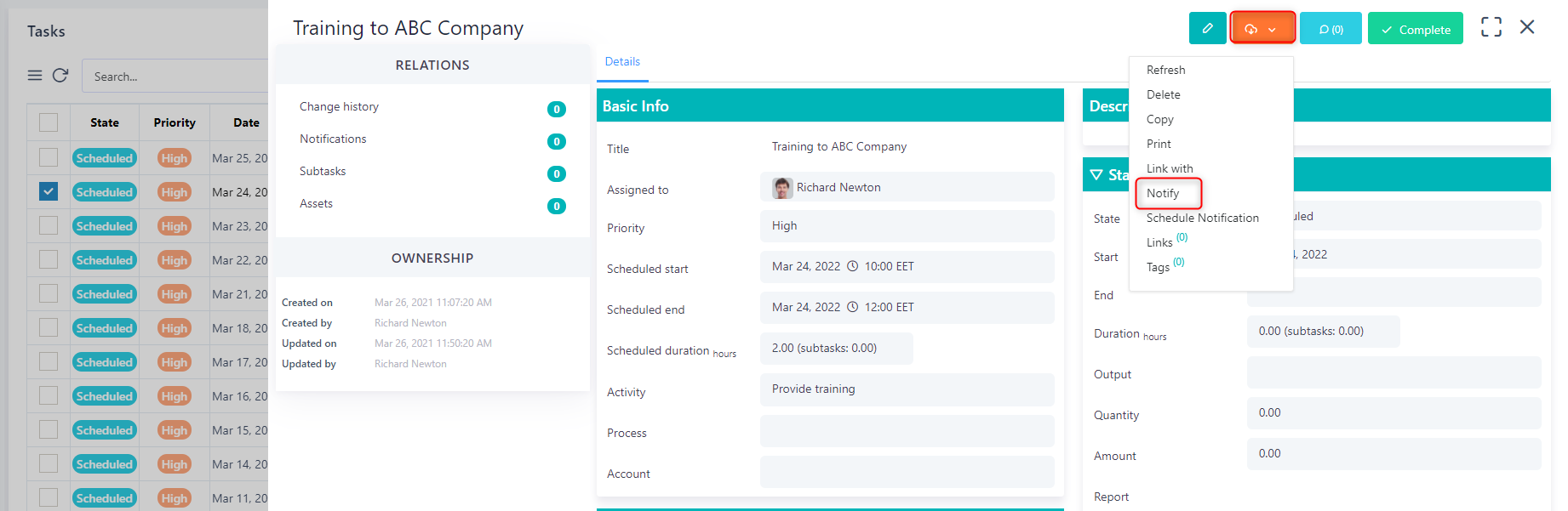 notify v.6| Comidor Platform