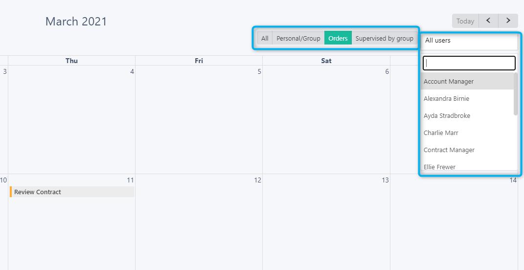 orders - calendar v.6| Comidor Platform