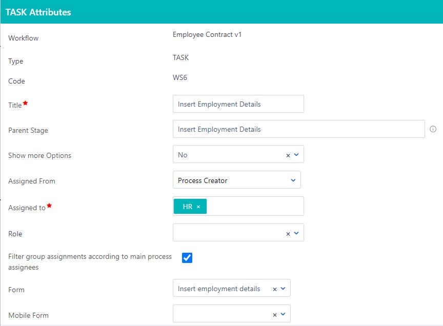 Workflow Task | Comidor Platform