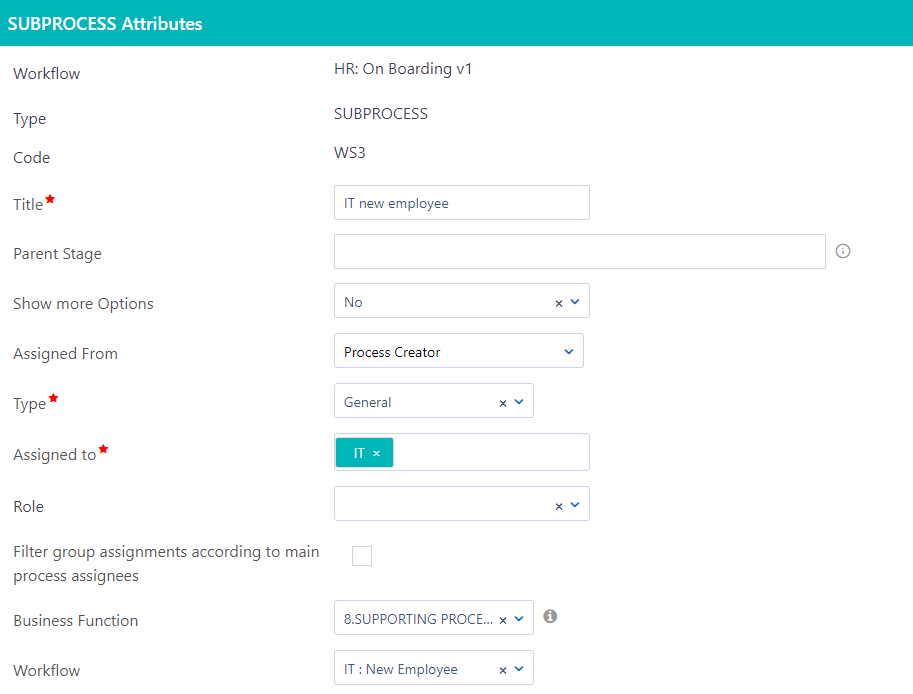 Workflow Subprocess | Comidor Platform