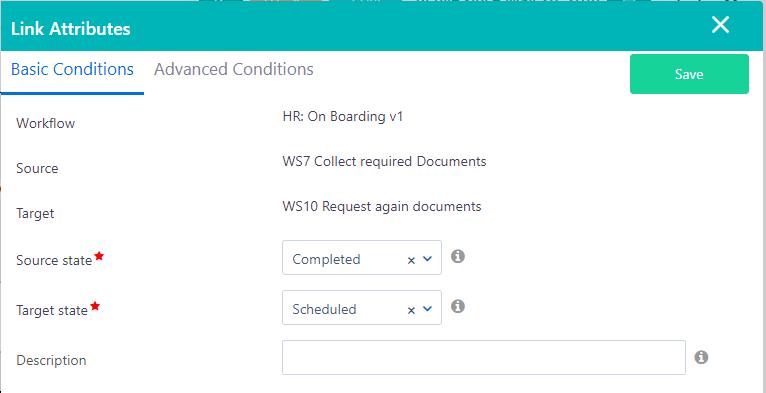 Workflow conditions | Comidor Platform