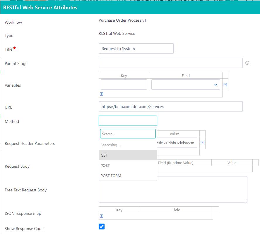 Workflow elements | Comidor Platform