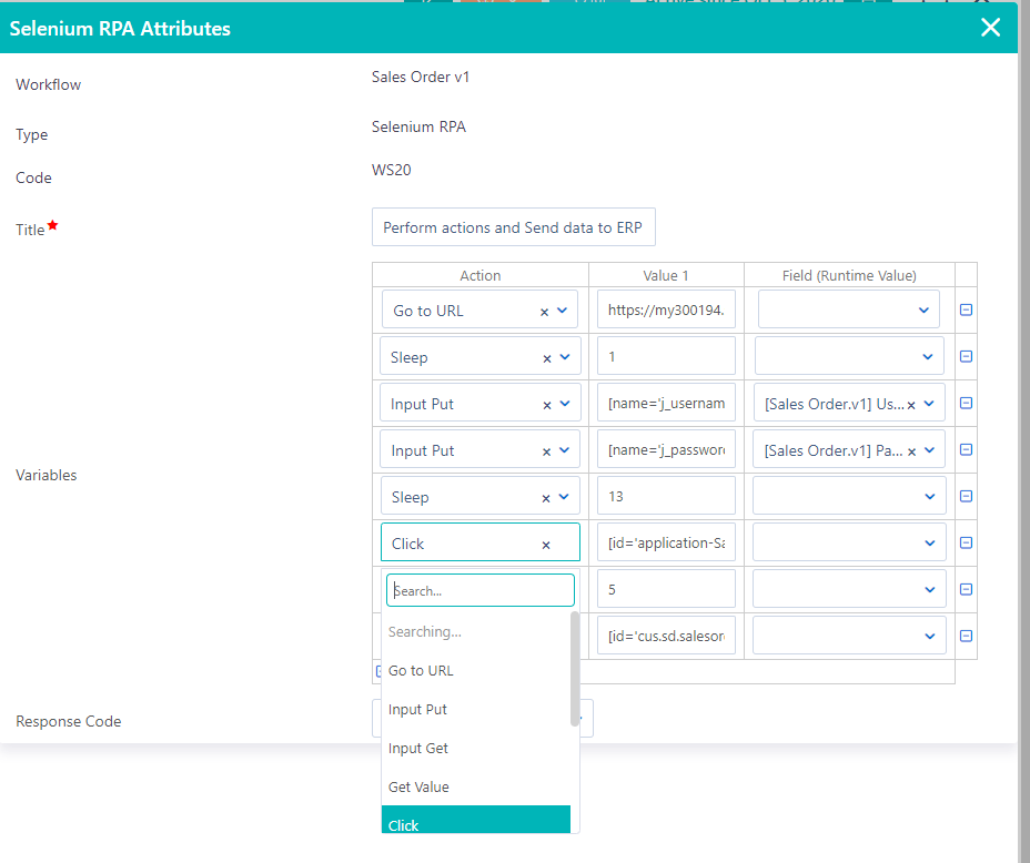 RPA Selenium | Comidor Platform