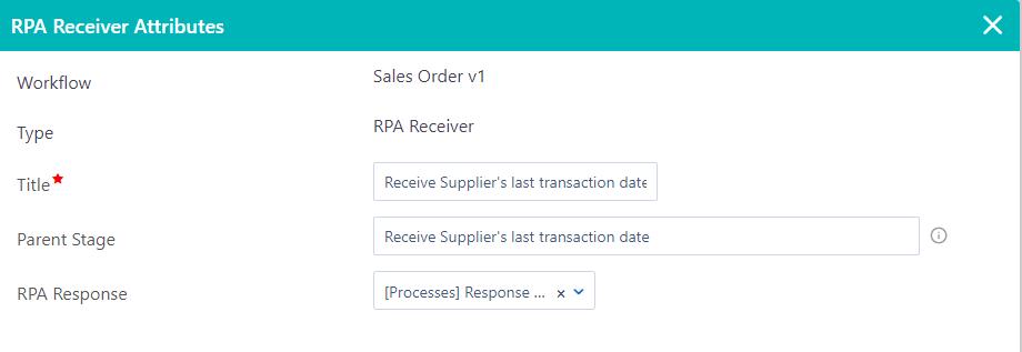 RPA Receiver | Comidor Platform