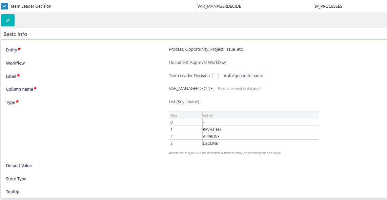 User fields | Comidor Platform