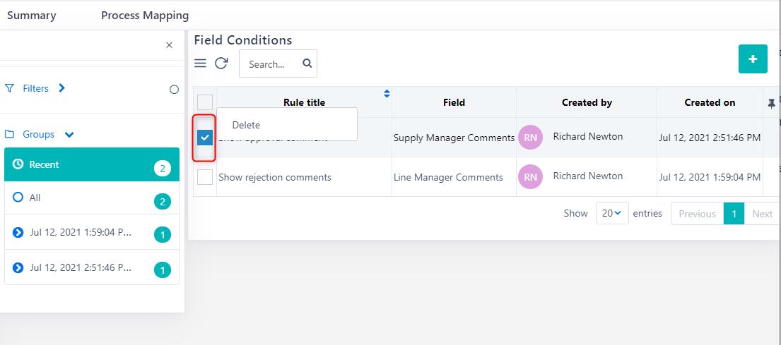 Field Rules | Comidor Platform