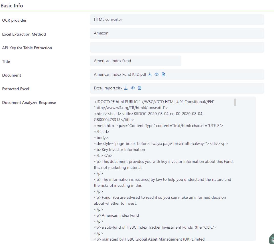 Document Analyzer | Comidor Platform
