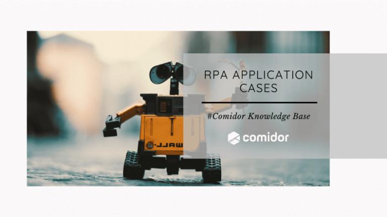 rpa cases | Comidor platform