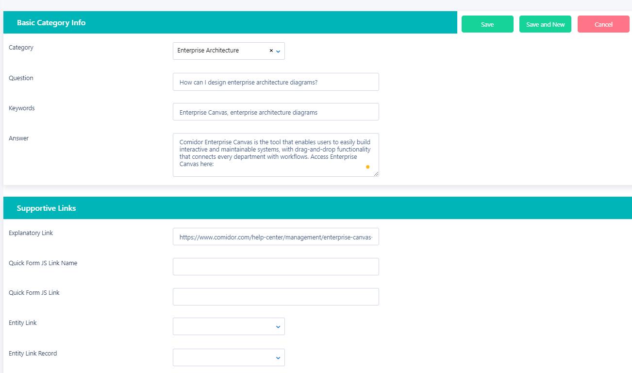 Knowledge base | Comidor Digital Automation Platform