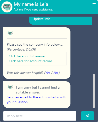 Leia bot | Comidor Digital Automation Platform