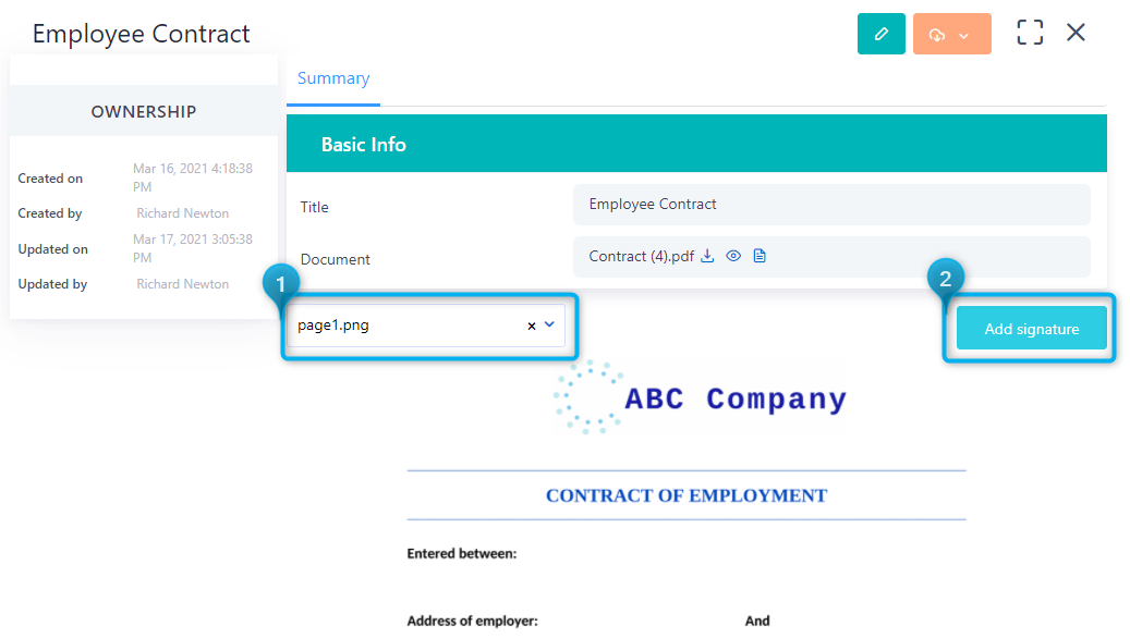Signature models   Comidor Platform