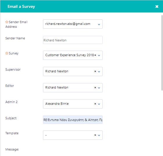 Email survey - Contact v.6| Comidor Platform