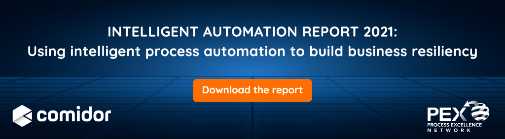 Intelligent Automation Report 2021 banner | Comidor Platform