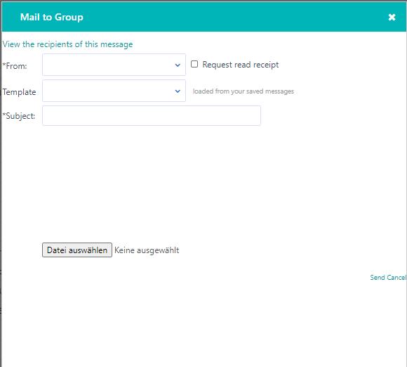 Mail to group - Contact v.6| Comidor Platform