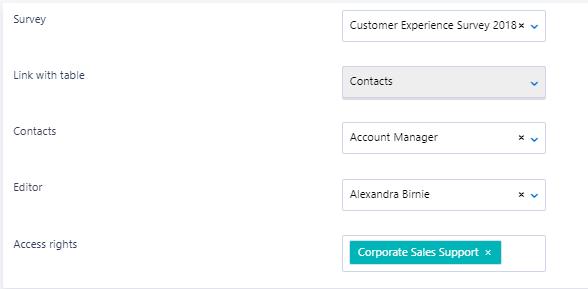 Survey - Contact v.6| Comidor Platform