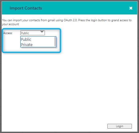 import - contact v.6| Comidor Platform