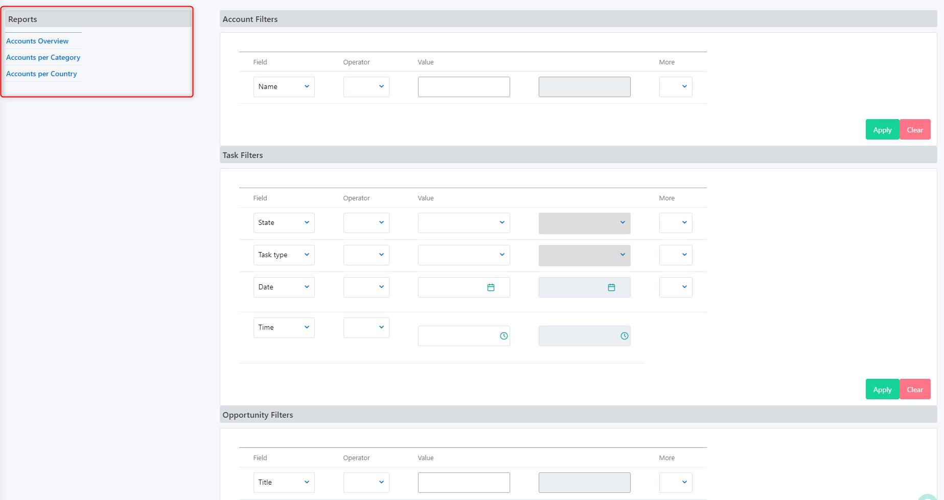 Reports- filters v.6| Comidor Platform