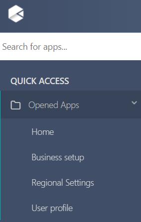 Opened apps v.6  Comidor Platform