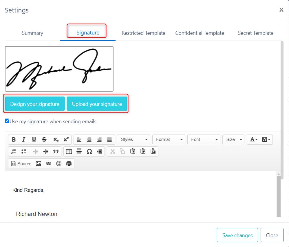 digital signature v.6  Comidor Platform