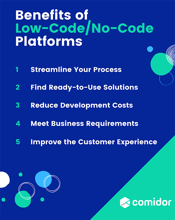 Benefits of Low-Code and No-Code Platforms   Comidor