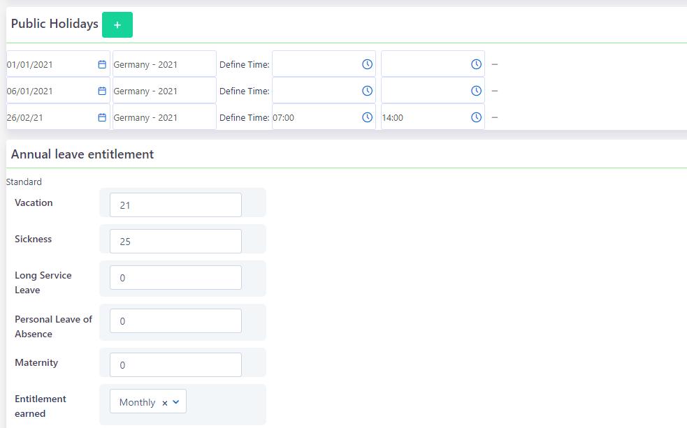 Regional settings | Comidor Platform