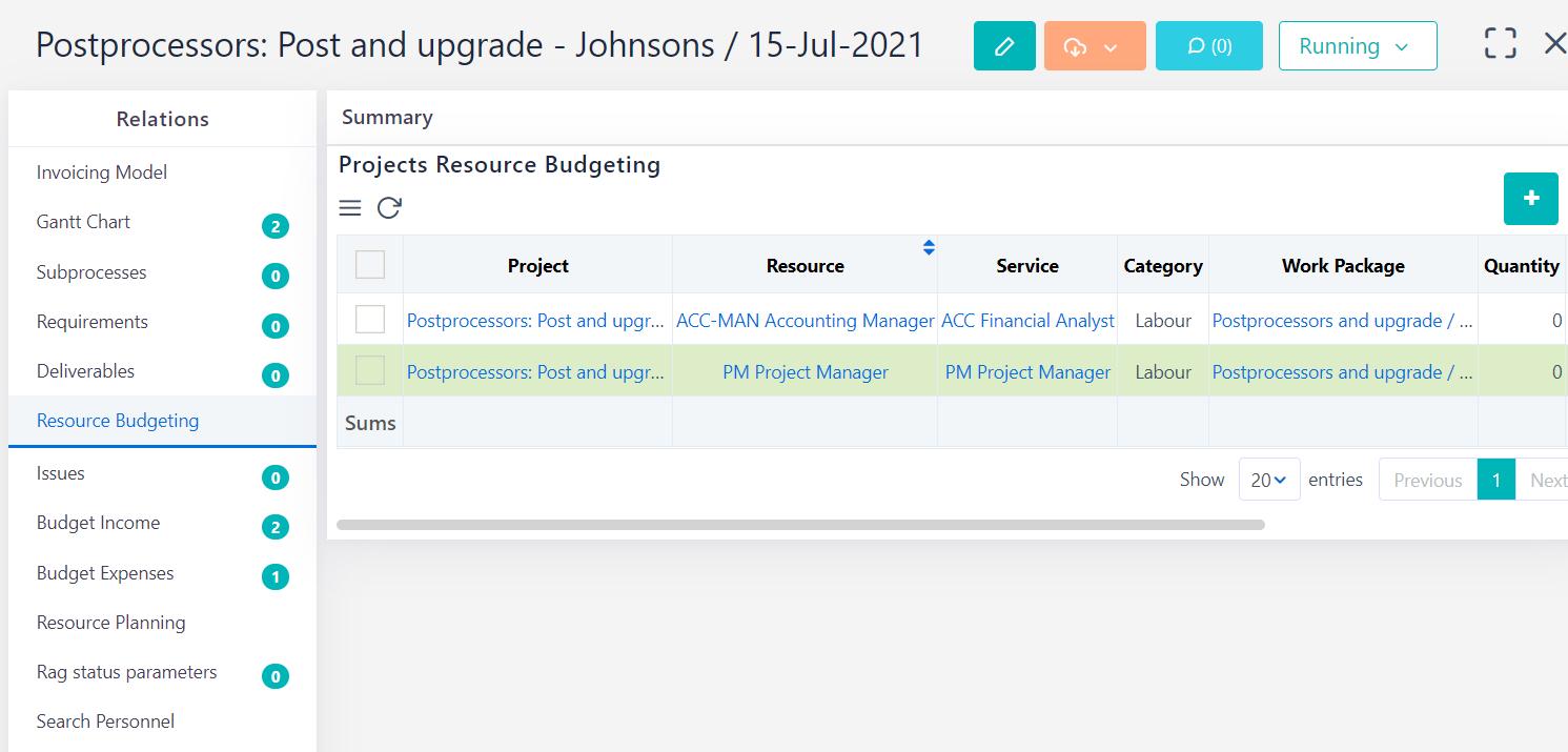 Already converted to budget income-expenses v.6.0   Comidor Platform