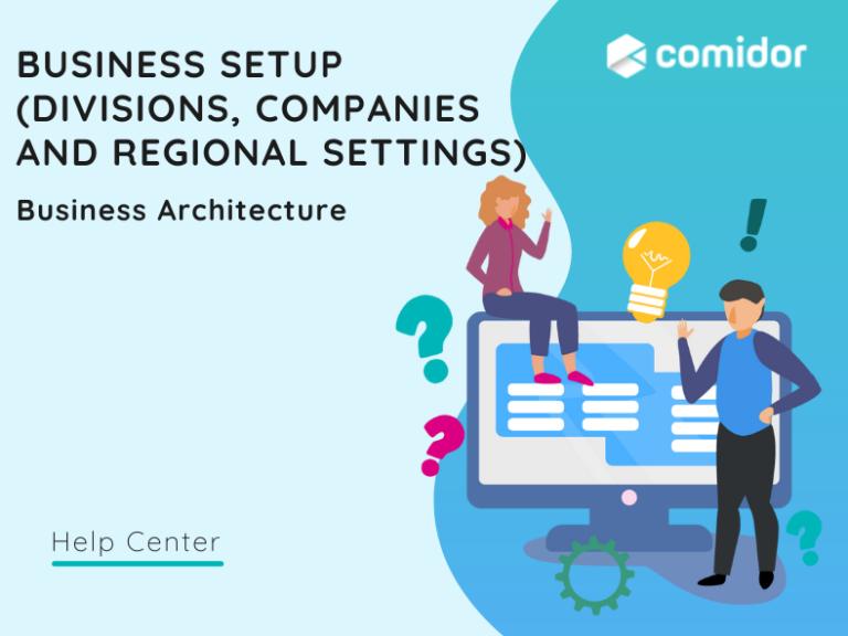 Business Setup featured | Comidor Platform