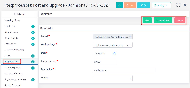 budget income v.6.0   Comidor Platform