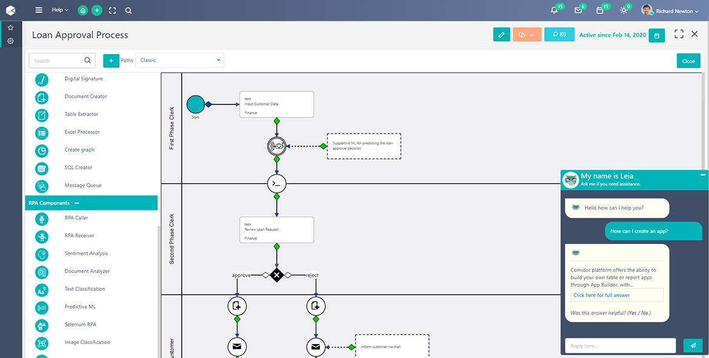 Cognitive Automation   Comidor Platform