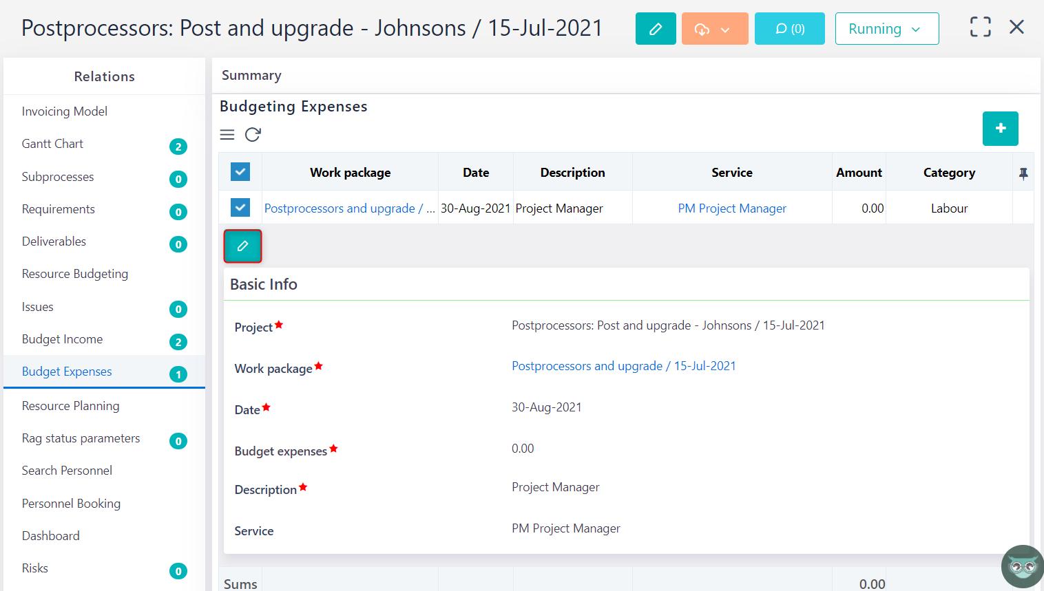 edit budget expense v.6.0   Comidor Platform