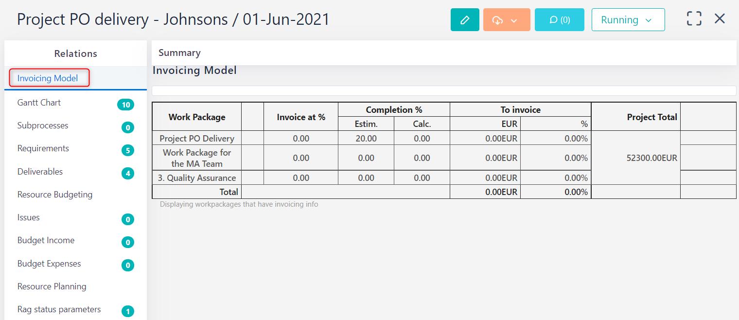 invoicing model setup v.6.0   Comidor Platform
