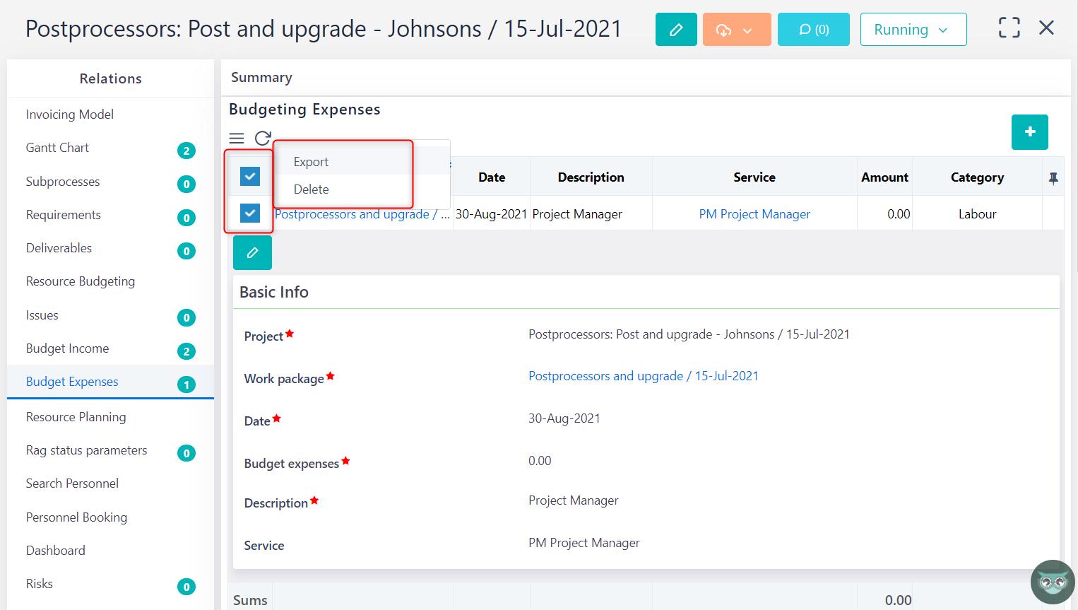 manage budget expense v.6.0   Comidor Platform
